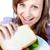 bela · mulher · sanduíche · branco · casa · saúde - foto stock © wavebreak_media