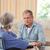 discussie · gezondheid · bezoeker · home · vrouw - stockfoto © wavebreak_media