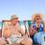 зрелый · пару · сидят · палуба · стульев · воды - Сток-фото © wavebreak_media