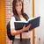 portret · student · boek · gang · vrouw - stockfoto © wavebreak_media