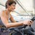 Fit woman working out on the exercise bike stock photo © wavebreak_media