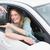 jeune · femme · nouvelle · voiture · clé · voiture · femme · heureux - photo stock © wavebreak_media