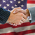 composite image of business people shaking hands stock photo © wavebreak_media