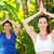 relaxed woman and her trainer doing yoga stock photo © wavebreak_media