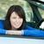 charming teen girl smiling at the camera sitting in her car stock photo © wavebreak_media