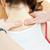 brunette · femme · Retour · massage · santé - photo stock © wavebreak_media