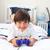 Cute little boy playing video games in his bedroom stock photo © wavebreak_media