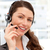 mooie · zakenvrouw · hoofdtelefoon · glimlachend · camera · kantoor - stockfoto © wavebreak_media