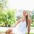 jonge · vrouw · ontspannen · gazon · park · schoonheid · zomer - stockfoto © wavebreak_media
