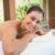 bella · bruna · massaggio · tavola · sorridere · fotocamera - foto d'archivio © wavebreak_media