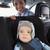 autó · biztonság · boldog · mosolyog · anya · baba - stock fotó © wavebreak_media