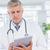 doktor · tablet · yalıtılmış · beyaz · dijital - stok fotoğraf © wavebreak_media