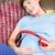 terhes · nő · megnyugtató · kanapé · otthon · nappali · ház - stock fotó © wavebreak_media