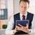zakenman · digitale · tablet · werkplek · scherm - stockfoto © wavebreak_media