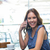 woman having coffee and making a call stock photo © wavebreak_media