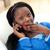 verwonderd · vrouw · praten · telefoon · geïsoleerd · witte - stockfoto © wavebreak_media