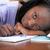 исчерпанный · женщину · изучения · домой · девушки - Сток-фото © wavebreak_media