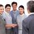 üzleti · partnerek · kézfogás · üzleti · megbeszélés · iroda · lobbi · partnerek - stock fotó © wavebreak_media
