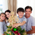 happy little kid decorating a christmas tree with his family stock photo © wavebreak_media