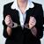 üzletasszony · bilincs · felfelé · üzlet · nő · munka - stock fotó © wavebreak_media