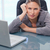 ciddi · işkadını · büro · bilgisayar · çalışmak - stok fotoğraf © wavebreak_media
