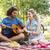 cute · paar · picknick · vrouw · man · gelukkig - stockfoto © wavebreak_media