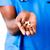 közelkép · orvos · tart · tabletták · üveg · víz - stock fotó © wavebreak_media