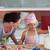 paar · keuken · gelukkig · jonge · vrouw · vers - stockfoto © wavebreak_media