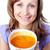 feliz · mulher · sopa · tigela · branco - foto stock © wavebreak_media