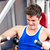 Muscular young man using a bench press in a fitness center stock photo © wavebreak_media