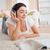 cute · vrouw · lezing · magazine · woonkamer · gezicht - stockfoto © wavebreak_media