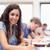 Porträt · ernst · Studenten · schriftlich · Klassenzimmer · Frau - stock foto © wavebreak_media