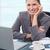 肖像 · 笑みを浮かべて · 女性実業家 · 作業 · ノートブック · オフィス - ストックフォト © wavebreak_media