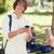 portré · fiatalember · okostelefon · park · barátok · telefon - stock fotó © wavebreak_media