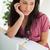 nudzić · brunetka · student · biurko · laptop · pokój - zdjęcia stock © wavebreak_media