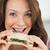 yetişkin · kadın · sağlıklı · beslenme · yemek · gülen · kamera - stok fotoğraf © wavebreak_media