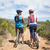 fit couple about to cycle on mountain trail stock photo © wavebreak_media