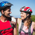 Active couple cycling in the countryside smiling at each other stock photo © wavebreak_media