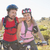 fit cyclist couple smiling together on mountain trail stock photo © wavebreak_media