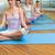 yoga · clase · loto · plantean · fitness · estudio - foto stock © wavebreak_media