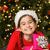 küçük · kız · açılış · Noel · sunmak · kanepe · aile - stok fotoğraf © wavebreak_media