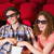 gelukkig · paar · kijken · film · theater · bioscoop - stockfoto © wavebreak_media