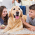 szczęśliwy · krajowy · rodziny · posiedzenia · salon · psa - zdjęcia stock © wavebreak_media