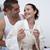 gelukkig · paar · badkamer · zwangerschaptest - stockfoto © wavebreak_media
