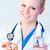 orvos · tart · tabletták · kamerába · fókusz · személy - stock fotó © wavebreak_media