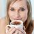 portret · wesoły · kobieta · pitnej · kawy · posiedzenia - zdjęcia stock © wavebreak_media