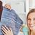 mulher · de · costura · casa · cozinha · amigo · negócio - foto stock © wavebreak_media
