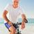 Senior man with his bike stock photo © wavebreak_media