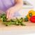 nő · vág · zöldségek · modern · konyha · belső · ház - stock fotó © wavebreak_media