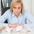 mokkend · vrouw · vergadering · kantoor · spaarvarken · minder - stockfoto © wavebreak_media